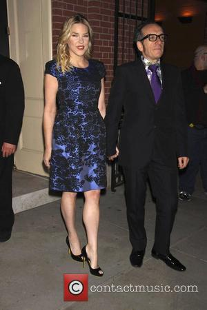 Diana Krall and Elvis Costello  The opening night of 'Dame Edna and Michael Feinstein's All About Me' at Henry...