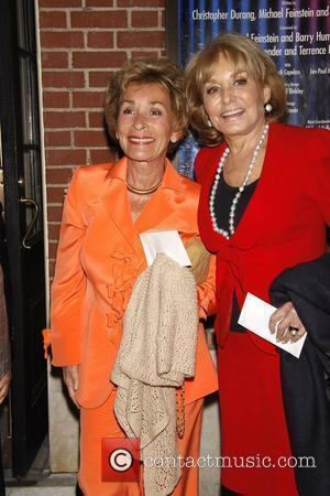 Judge Judy Sheindlin and Barbara Walters  The opening night of 'Dame Edna and Michael Feinstein's All About Me' at...
