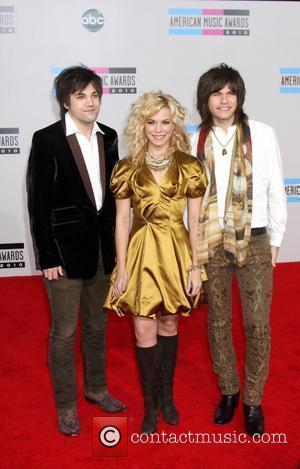 The Band Perry - Reid Perry, Kimberly Perry, Neil Perry 2010 American Music Awards (AMAs) held at the Nokia Theatre...