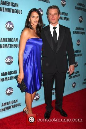 Luciana Barroso and Matt Damon The American Cinematheque 24th Annual Award Presentation to Matt Damon - Arrivals Los Angeles, California...