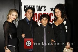 Joseph 'Joey' Marciano Armstrong, Jakob Danger Armstrong and Adrienne Armstrong  Opening night of the Broadway musical 'Green Day's American...