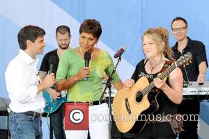 George Stephanopoulos, Robin Roberts and Crystal Bowersox 2010 American Idols Live! Tour performs on 'Good Morning America's Summer Concert' Series...