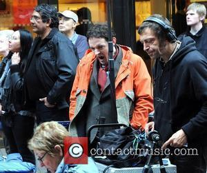 Hugh O'Connor  seen filming a TV project penned by Cecelia Ahern called 'Three Wise Women', beside Brown Thomas on...