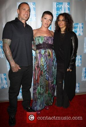 Carey Hart, Alecia Beth Moore aka Pink and Linda Perry L.A. Gay & Lesbian Center presents 'An Evening With Women:...