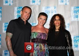 Carey Hart, Pink aka Alecia Moore and Linda Perry  L.A. Gay & Lesbian Center presents 'An Evening With Women:...