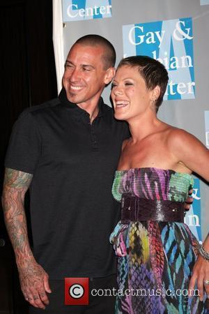 Carey Hart & Pink aka Alecia Moore  L.A. Gay & Lesbian Center presents 'An Evening With Women: Celebrating Art,...