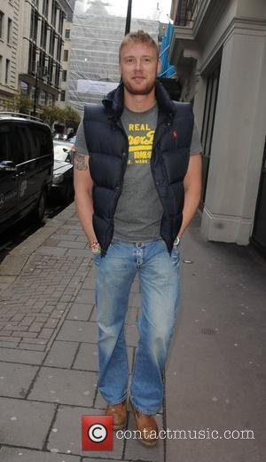 Andrew Flintoff aka Freddie Flintoff The England cricket player outside The May Fair Hotel.  London, England - 19.02.10