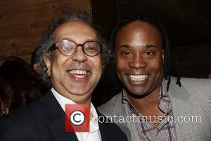 George C. Wolfe and Billy Porter  Opening night afterparty for the Off-Broadway production of 'Tony Kushner's Angels In America:...