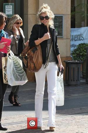 AnnaLynne McCord and her sister Angel McCord go shopping together at The Grove.