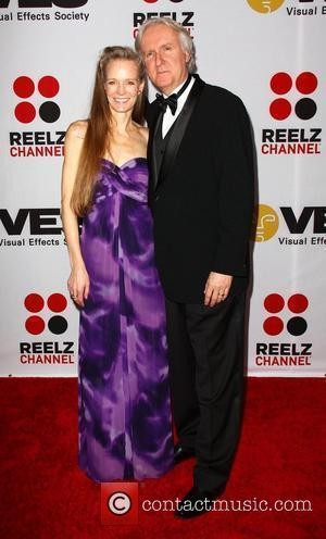 James Cameron with his wife Suzy Amis 8th Annual VES Awards held at The Hyatt Regency Century Plaza - Arrivals...