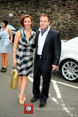 Alan Halsall and Lucy Jo Hudson  arrive at the Bury Bolton Road Station on the East Lancashire Railyway for...