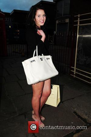 Helen Flanagan  arrives at the Bury Bolton Road Station on the East Lancashire Railyway for Antony Cotton's 35th Birthday...