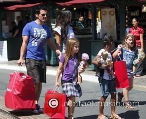 Antonio Sabato Jr. enjoys a day out shopping The Grove with his family Los Angeles, California - 26.08.10