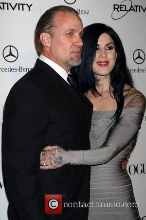 Jesse James and Kat Von D Art Of Elysium's 4th Annual 'Heaven' Charity Gala at California Science Center Exposition Park-...