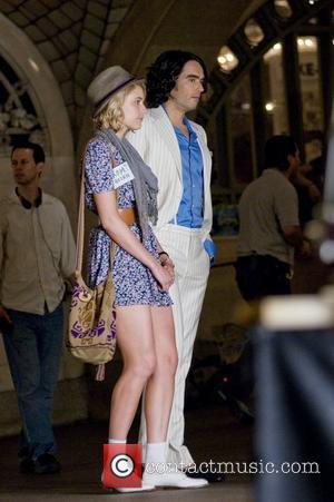 Greta Gerwig and Russell Brand