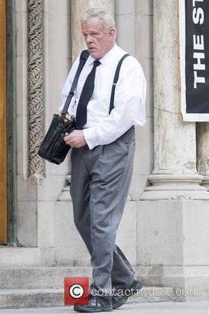 Nick Nolte filming on the movie set of Arthur on location in Manhattan New York City, USA - 26.07.10