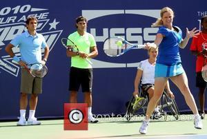 Roger Federer, Billie Jean King and Rafael Nadal