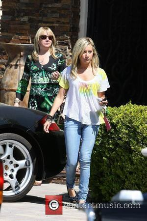 Ashley Tisdale and her mother Lisa Tisdale leaving her house in Toluca Lake.