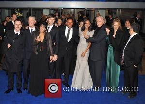 Giovanni Ribisi, James Cameron, Michelle Rodriguez, Sigourney Weaver and Zoe Saldana