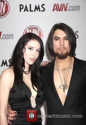 Aiden Ashley and Dave Navarro The AVN Awards 2011 held at the Palms Casino Resort - Arrivals Las Vegas, Nevada...