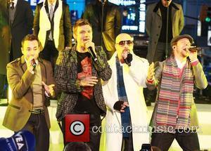 The Backstreet Boys perform live on stage at the 2011 New Years Eve celebrations at Times Square  New York...