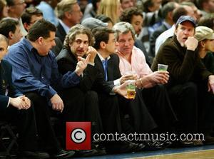 Steve Schirripa, Michael Imperioli and Matthew Modine Celebrities watching the New York Knicks vs. Charlotte Bobcats basketball game at Madison...