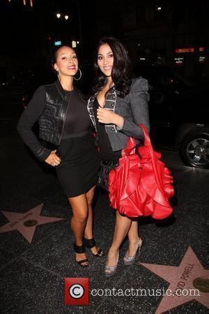 Gloria Govan (L) of VH1's Basketball Wives and a friend outside Katsuya in Hollywood Los Angeles, USA - 04.11.10