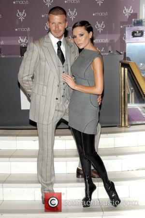 Victoria Beckham, David Beckham and Steps