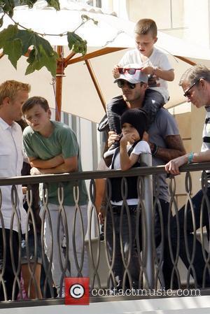 Beckham Visits U.k. Troops In Afghanistan