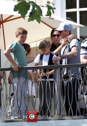 David, Jonas Brothers and Victoria Beckham