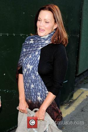 Belinda Carlisle at Manchester Pride 2010 wearing a blue scarf Manchester, England - 27.08.10