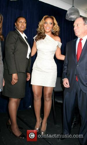 Beyonce Knowles and Mayor Michael Bloomberg