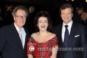 Colin Firth, Geoffrey Rush and Helena Bonham Carter