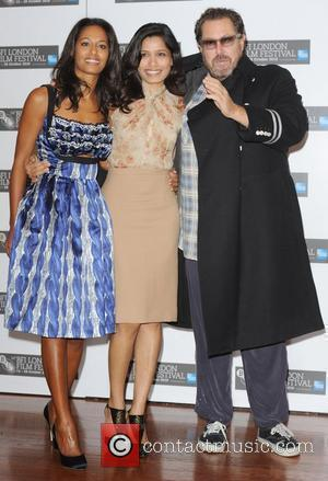 Rula Jebreal, Frieda Pinto and Julian Schnabel The 54th BFI London Film Festival - 'Miral' - Photocall  London, England...
