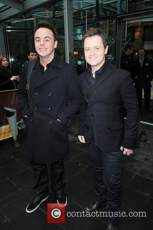Anthony McPartlin and Declan Donnelly leaving their hotel to head to the 'Britain's Got Talent' auditions Manchester, England - 13.01.11