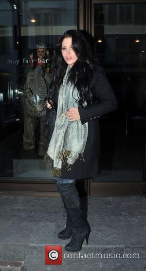 Bianca Gascoigne leaving the May Fair hotel London, England - 17.12.10