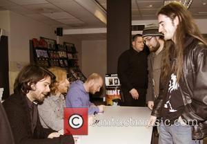 Biffy Clyro - Simon Neil, James Johnston, Ben Johnston promote and sign copies of their latest CD album 'Only Revolutions'...