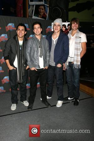 Carlos Pena, Logan Henderson, Kendall Schmidt, James Maslow The cast of Nickelodeon's 'Big Time Rush' appear at Planet Hollywood Times...