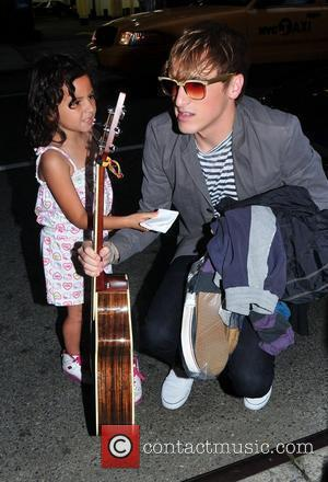 Kendall Schmidt The cast of 'Big Time Rush' arrive at their hotel New York City, USA - 13.08.10