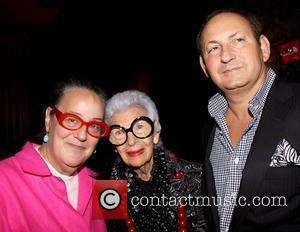 Kim Hastreiter, Iris Apfel and John Demsey Private screening for 'Bill Cunningham New York' at the Tribeca Grand Hotel -...