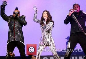 The Black Eyed Peas perform live at Samsung's 3D LED TV launch concert in Times Square New York City, USA...