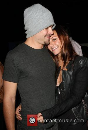 Briana Evigan and New Boyfriend Actor, Patrick John Flueger  Blackberry Torch From AT&T U.S. Launch Party - Inside Los...