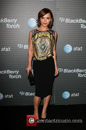 Christina Ricci Blackberry Torch From AT&T U.S. Launch Party - Arrivals Los Angeles, California - 11.08.10