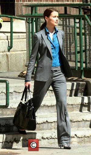 Bridget Moynahan on the set of 'Blue Bloods' New York City, USA - 20.08.10
