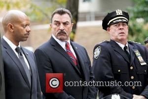 Tom Selleck Actors filming on the set of the television show 'Blue Bloods'  New York City, USA - 20.10.10