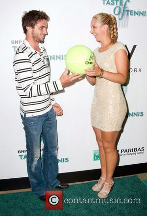 Gilles Simon and Timea Bacsinszky and Ralph Lauren