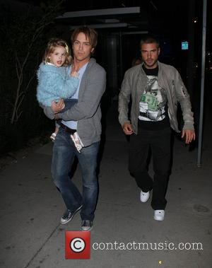 Larry Birkhead and his daughter Dannielynn Birkhead outside BOA steakhouse Los Angeles, California - 31.03.10