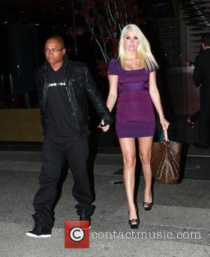 Sam Jones III and Karissa Shannon leave Boa restaurant after having dinner together. The couple is said to be taking...