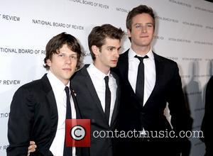 L to R: Jesse Eisenberg, Andrew Garfield and Armie Hammer,  The 63rd National Board of Review of Motion Pictures...