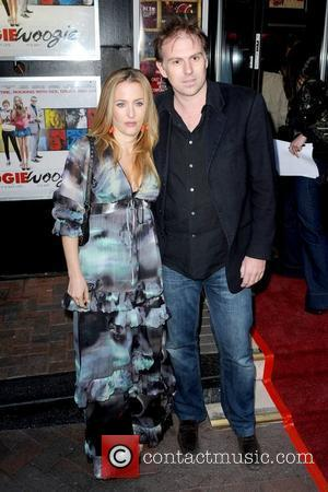 Gillian Anderson and Clyde Klotz The Boogie Woogie gala screening at the Prince Charles Cinema - Arrivals London, England -...